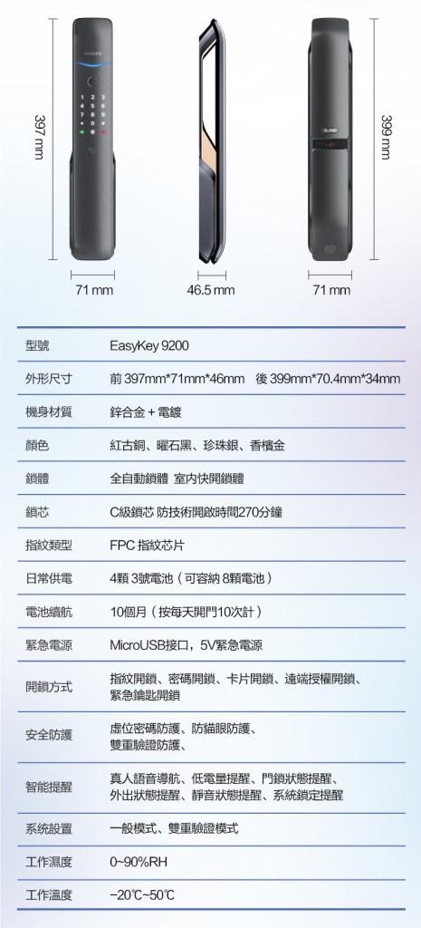 飛利浦9200電子鎖 產品介紹